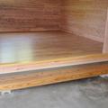 可児市:蔵を壊した後大切なものを保管するための倉庫(調湿性のある無垢の板を使いました)